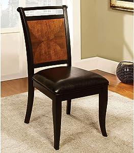 William's Home Furnishing Salida I Dining Chairs, Espresso/Black