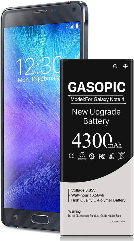Galaxy Note 4 Battery 4300mAh Li-Polymer Replacement Battery for Note 4 N910, N910U 4G LTE, N910V(Verizon), N910T(T-Mobile), N910A(AT&T), N910P(Sprint) Samsung Note 4 Battery