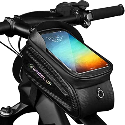 Bicycle Frame Front Top Tube Waterproof Bike Bag Touch Screen Saddle Case