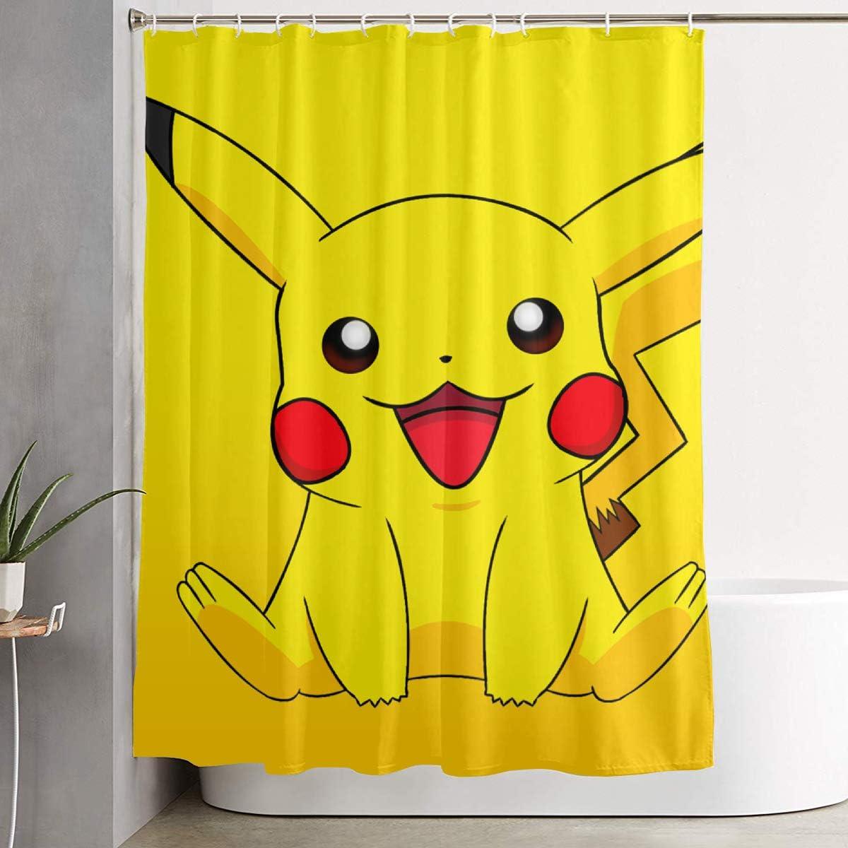 Pokemon I Choose You Kids Shower Fabric Curtain Bathroom Home Decoration NEW