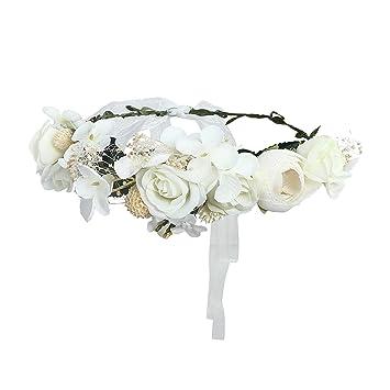 1Pc Women wedding floral wreath hairband flower headband hair garland crown XE
