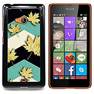 Stuss Case / Funda Carcasa protectora - La hoja de arce de Canadá del trullo - Nokia Lumia 540