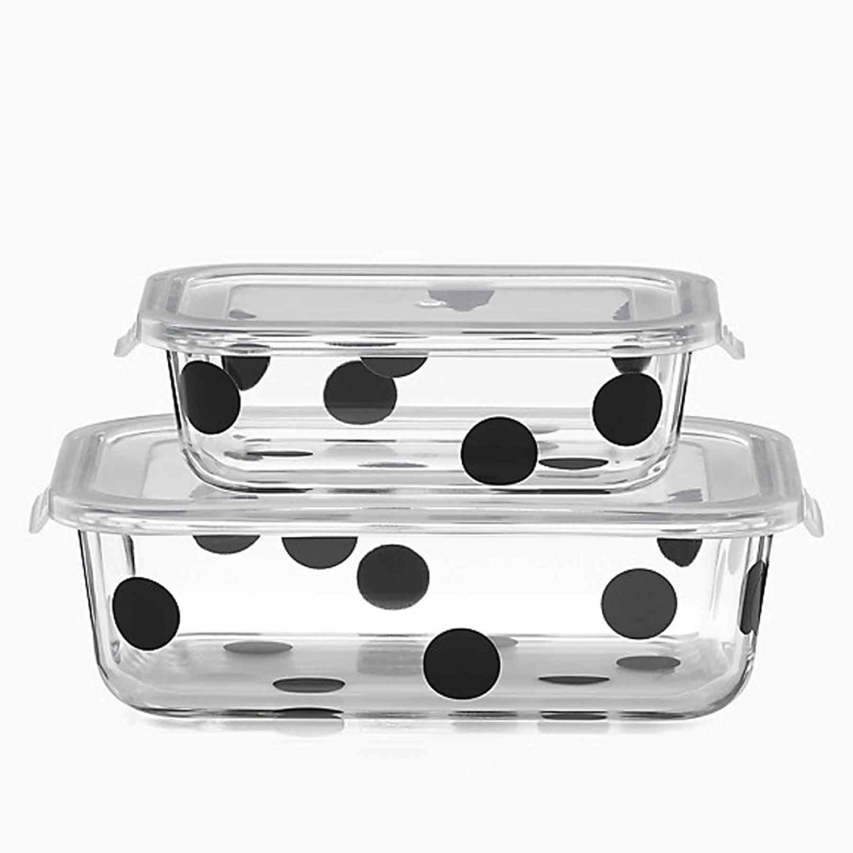 Kate Spade New York 875251 Deco Dot Rectangular Dish with Lid
