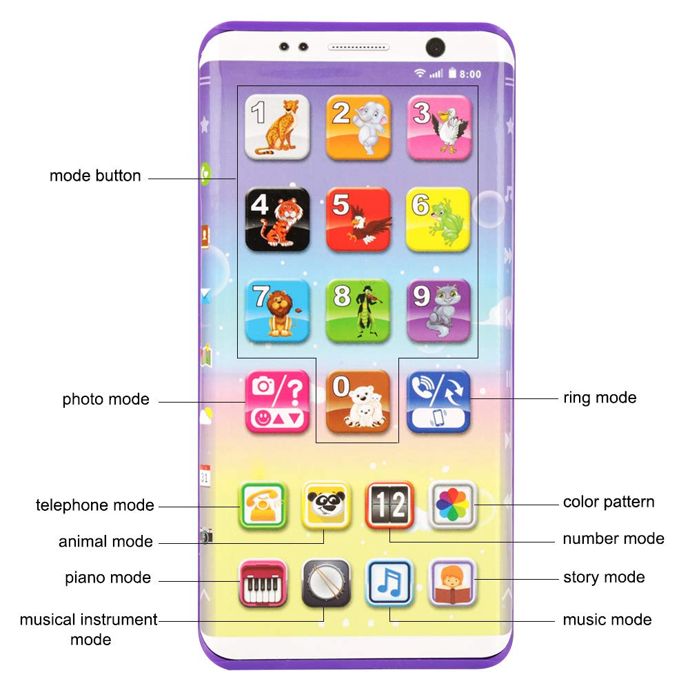 Creative Baby Toys Music Cartoon Phone Mobile Educational Developmental Kids Gifts Toy Big Clearance Sale Pretend Play Furniture Toys