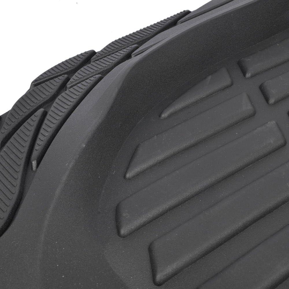 Motor Trend MT-923-BK Black FlexTough Contour Liners-Deep Dish Heavy Duty Rubber Floor Mats for Car SUV Truck /& Van-All Weather Protection
