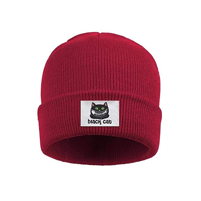 37d83995045 Amazon.com  Black Cat Mens Designer Beanie Hats Wool Warm Knit Cap ...