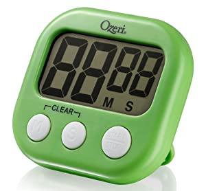The Ozeri Kitchen and Event Timer, Lime Green