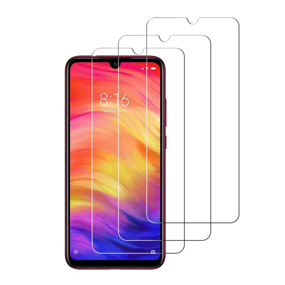 Protector de Pantalla para Xiaomi Redmi Note 7 // Note 7 Pro,Cristal Templado para Xiaomi Redmi Note 7 // Note 7 Pro Alta Definicion,9H Dureza,Sin Burbujas iDolix Transparente 3 Unidades