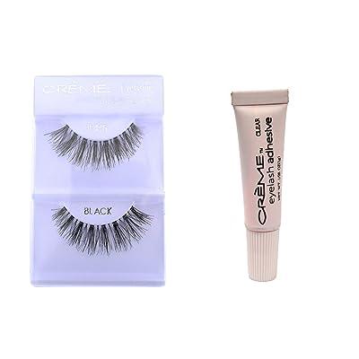 12 Pairs Crème 100% Human Hair Natural False Eyelash Extensions Black #415 Natural Long Lashes