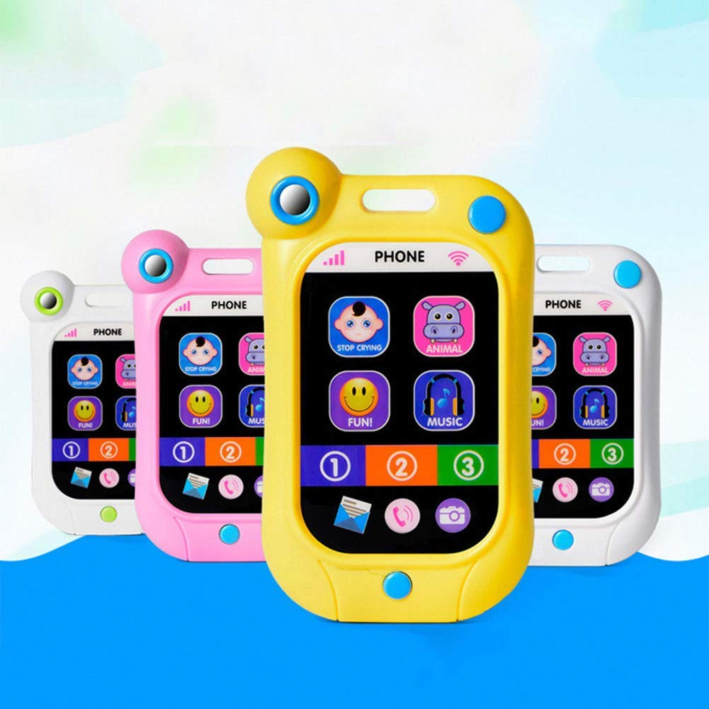 Ogquaton B/éb/é pr/écoce dapprentissage /écran Tactile t/él/éphone Intelligent t/él/éphone Portable Enfants Jouets Bleu Durable et utile