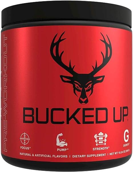 Bucked Up Pre Workout - Best Tasting - 6 Grams Citrulline, 2 Grams Beta Alanine Non Proprietary Blend, Powder (Strawberry Kiwi)