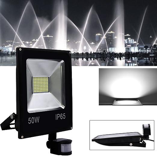 Hengda® Foco proyector Exterior LED detección de movimiento PIR sensor Resistente al agua con Sensor