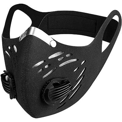 PRETYZOOM Protector de Cara Deportivo a Prueba de Polvo Al Aire Libre Cubierta Deportiva Reutilizable con Filtro de Carbono para Ciclismo Entrenamiento de Carrera