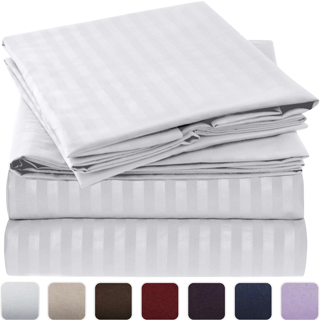 Mellanni Striped Bed Sheet Set