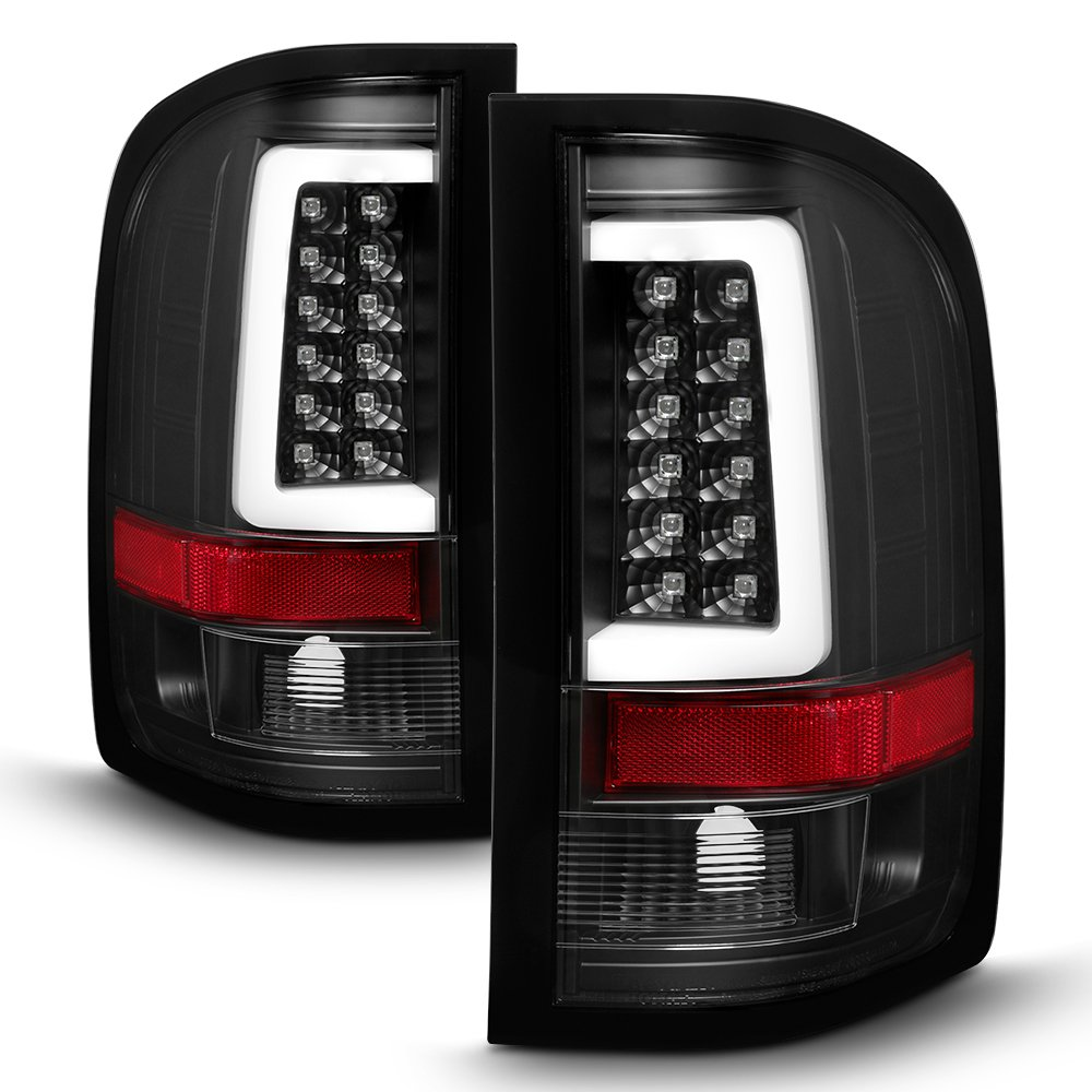 For 07-14 Suburban//Tahoe//Yukon XL DNA Motoring TL-LED-GMCYO07-RDSM Full LED Tail Light Brake Lamp
