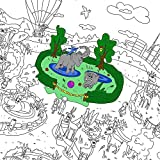 Colorings for children Zooland. Coloring pages for kids and adults. Color me posters for family.