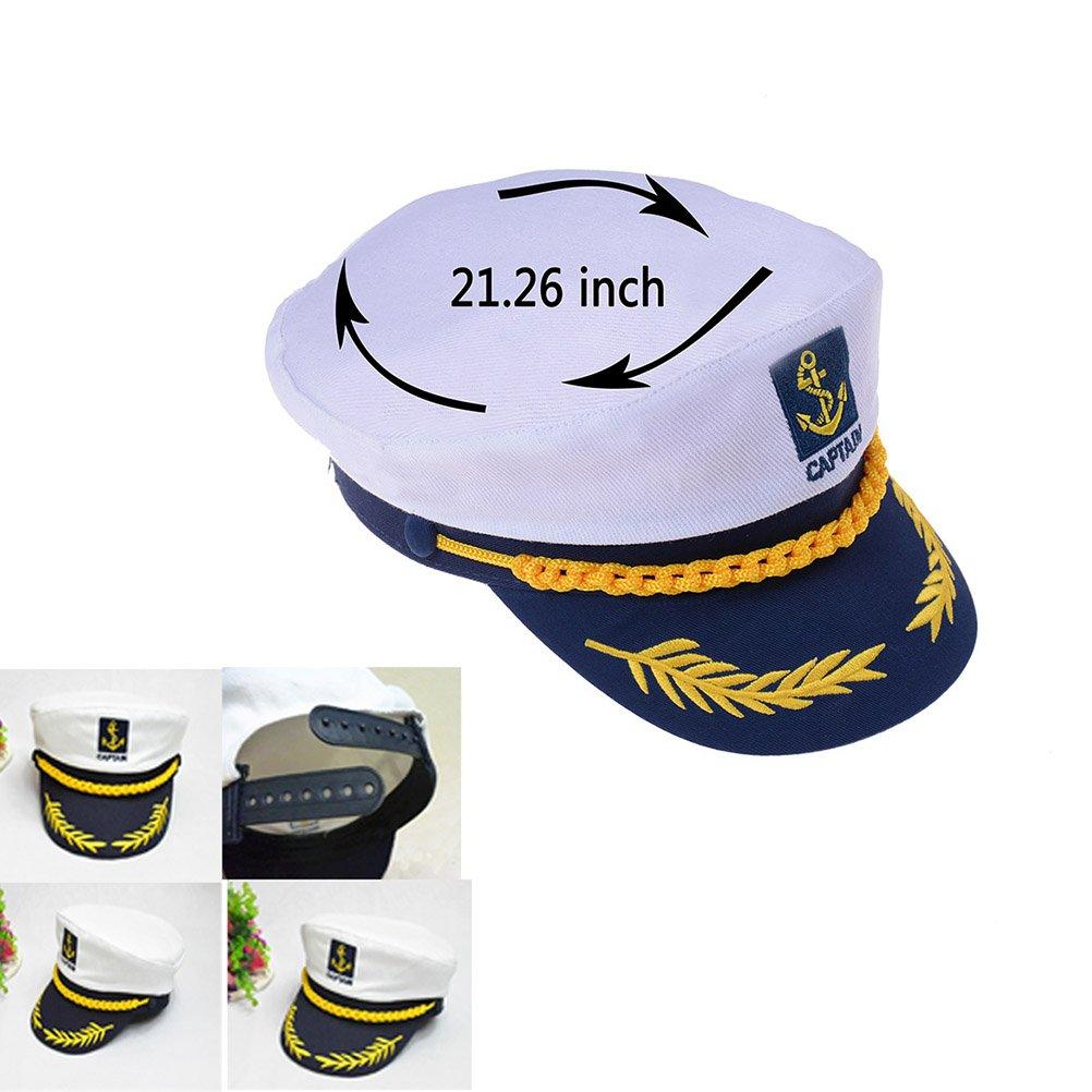 Amazon.com: Marinero Capitán Sombrero bordado Barco Barco ...