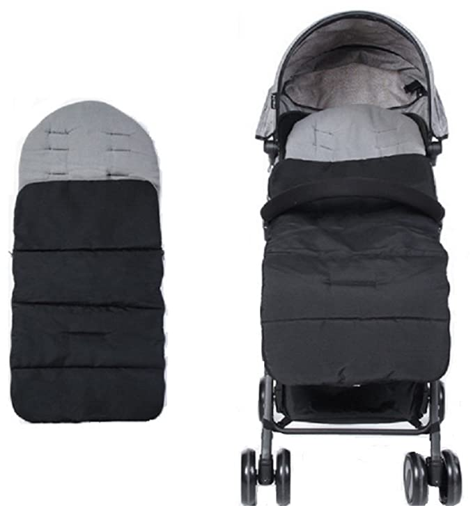 CZ-XING Pushchair Footmuff Baby Toddler Universal Baby Stroller Fleece Lined Snuggly Cosytoes Footmuff Universal Fitting for Pushchairs Strollers Prams Buggys Baby Joggers A