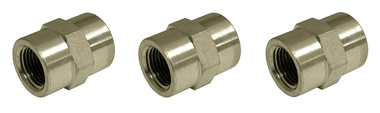 Style 5000 Apache 39035404 1//4 Female Pipe x 1//4 Female Pipe Hydraulic Adapter Five Pack