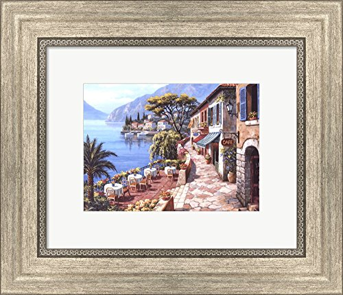 - Overlook Cafe II by Sung Kim Framed Art Print Wall Picture, Silver Scoop Frame, 13 x 11 inches
