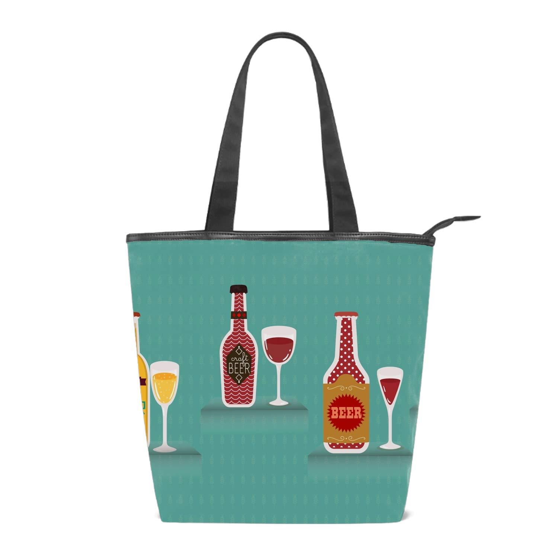 Fried Chicken Drinks Womens Handbags Canvas Shoulder Bags Retro Casual Tote Purses