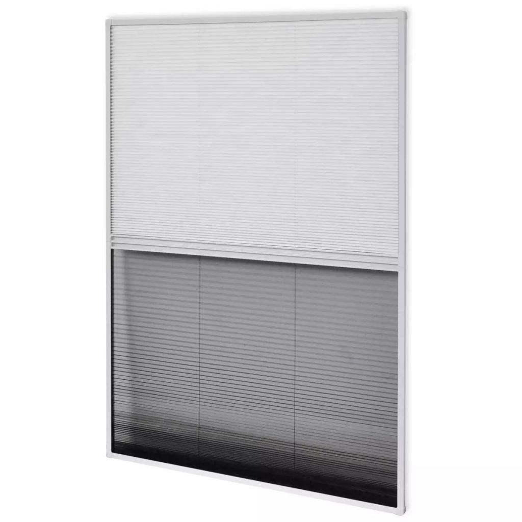 vidaXL Moustiquaire plissé e pour fenê tre et store Aluminium 80 x 100cm