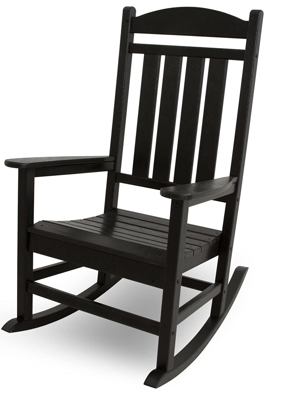 POLYWOOD R100BL Presidential Rocking Chair, Black