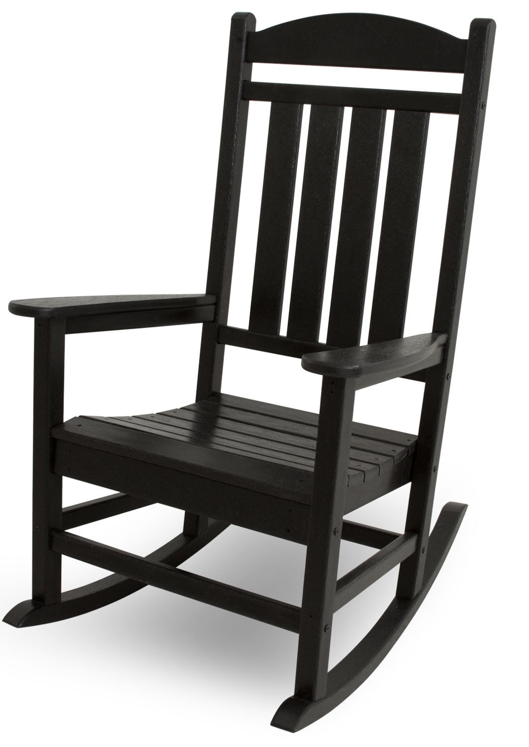 POLYWOOD R100BL Presidential Rocking Chair, Black by POLYWOOD