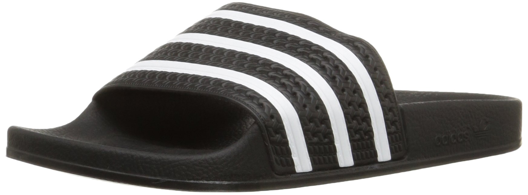 adidas Originals Men's Adilette Slide Sandal,Black/White/Black,13 M US