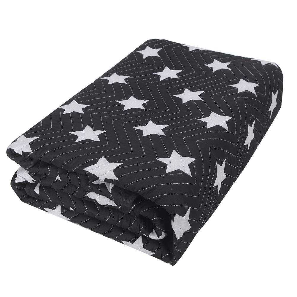 SOMIDE Luxury Stars Pattern Moving Blankets, Ultra Thick, Washable, Colorfast, Multi-Porpose for Pet Supplies, Sound Barrier, Hunting and Outdoor
