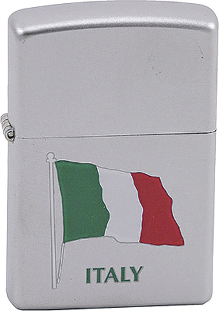 Personalized Message Engraved Customized Gift For Him For Her ITALY Flag Zippo Indoor Outdoor Windproof Lighter