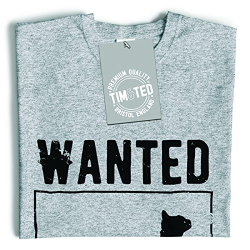 Tim and Ted Wanted Dead e vivo Schròdinger Cat Poster Distressed T-Shirt Da Donna