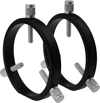 Astromania Adjustable Guiding Scope Rings 102 mm Inside Diameter (Pair) - for Telescope Tube Diameter or Finders 48 to 100mm