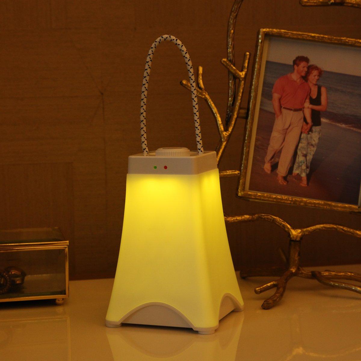 blanco c/álido decoraci/ón de jard/ín acampar al aire libre OBELON L/ámpara de mesa port/átil con luces blancas c/álidas,regulable,usb recargable,manejar,luz de la noche de los ni/ños para el hogar