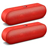 Beats by Dre Pill Plus Portable Wireless/Bluetooth Speaker (Pair) in Red