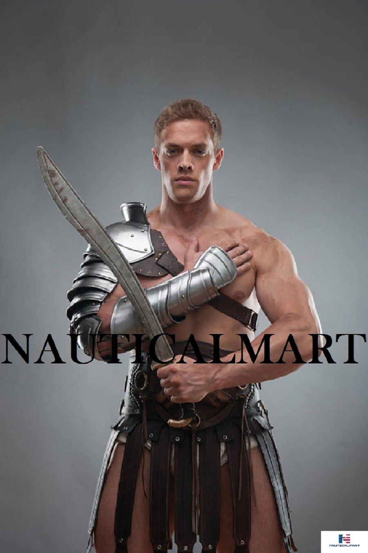 Halloween Spartacus Armor Pauldron and Hand Bracer By NauticalMart