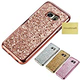 S6 Edge Plus Glitter TPU Case, Houshine Premium Electroplated Bumper Bling Soft Cover Case for Samsung Galaxy S6 Edge Plus, Rose Gold