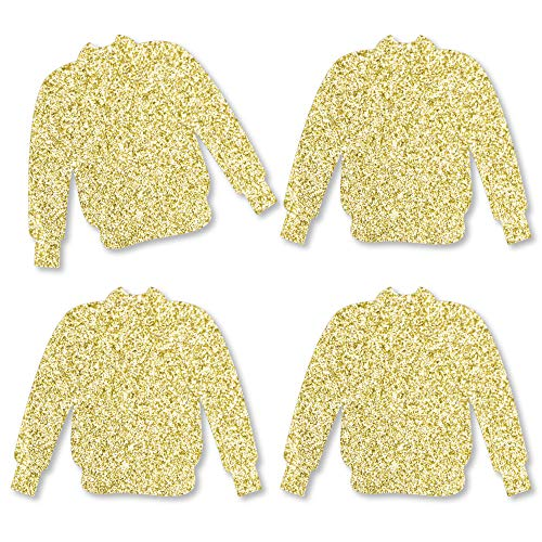 Gold Glitter Ugly Sweater - No-Mess Real Gold