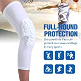 SHINYPRO Knee Compression Sleeves with EVA Padding, Knee Braces for Men & Women Athlete, Perfect Joint Pain Relief for Contract Team Sports, Volleyball Football Baseball Softball Cycling