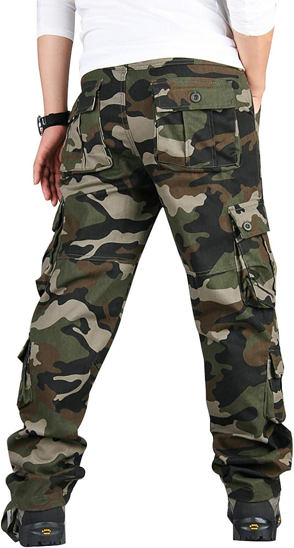 militari vestibilit/à comoda mimetici Pantaloni cargo da uomo multitasche