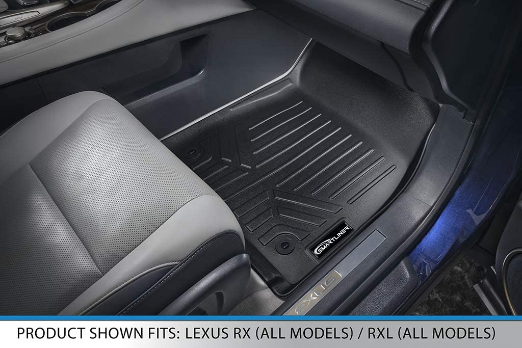 2016-2017 Black First Row Set MAXFLOORMAT Floor Mats for Lexus RX