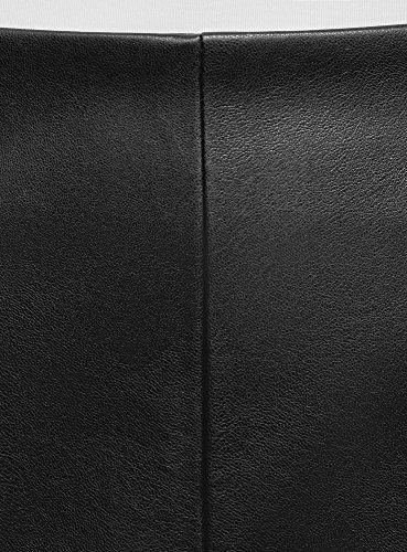 Femme Jupe Crayon Collection oodji Noir en 2900n Similicuir OwF5a7qnf