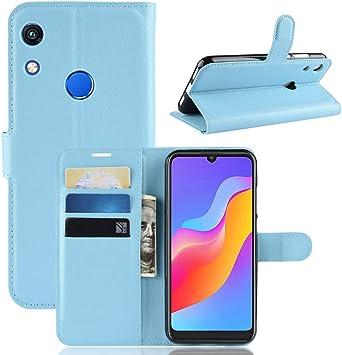 MISKQ Funda para Huawei Y6 (2019)/Huawei Y6 Prime 2019,Funda con diseño de Cartera,Estuche para el teléfono Anti caída,Estuche de Silicona(Azul): Amazon.es: Electrónica