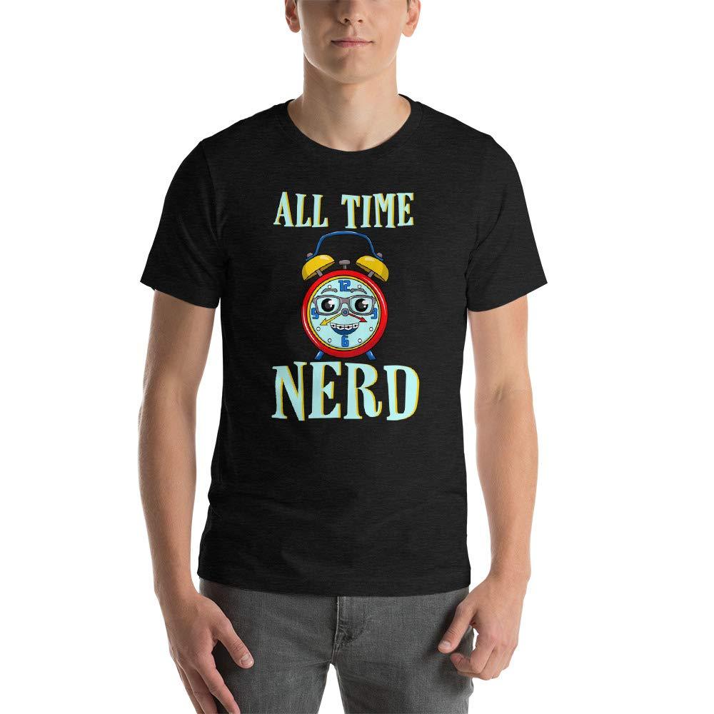 Nerd All The Time Short-Sleeve Unisex T-Shirt Dark Grey Heather