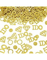 Zonon 560 Pieces Gold Wedding Table Confetti Gold Diamond Ring Confetti I Do Engagement Party Table Scatter for Wedding Engagement Bridal Shower Bridal Shower Birthday Party Decorations