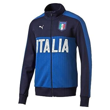 cda743282f FIGC Fanwear Track Jacket peacoat-team power blue 16 18 Italy Puma XS  peacoat