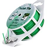 All-Purpose 328 feet Twist Ties - Multifunctional Twist Plant Ties with Cutter, for Plants Support Garden Office and…