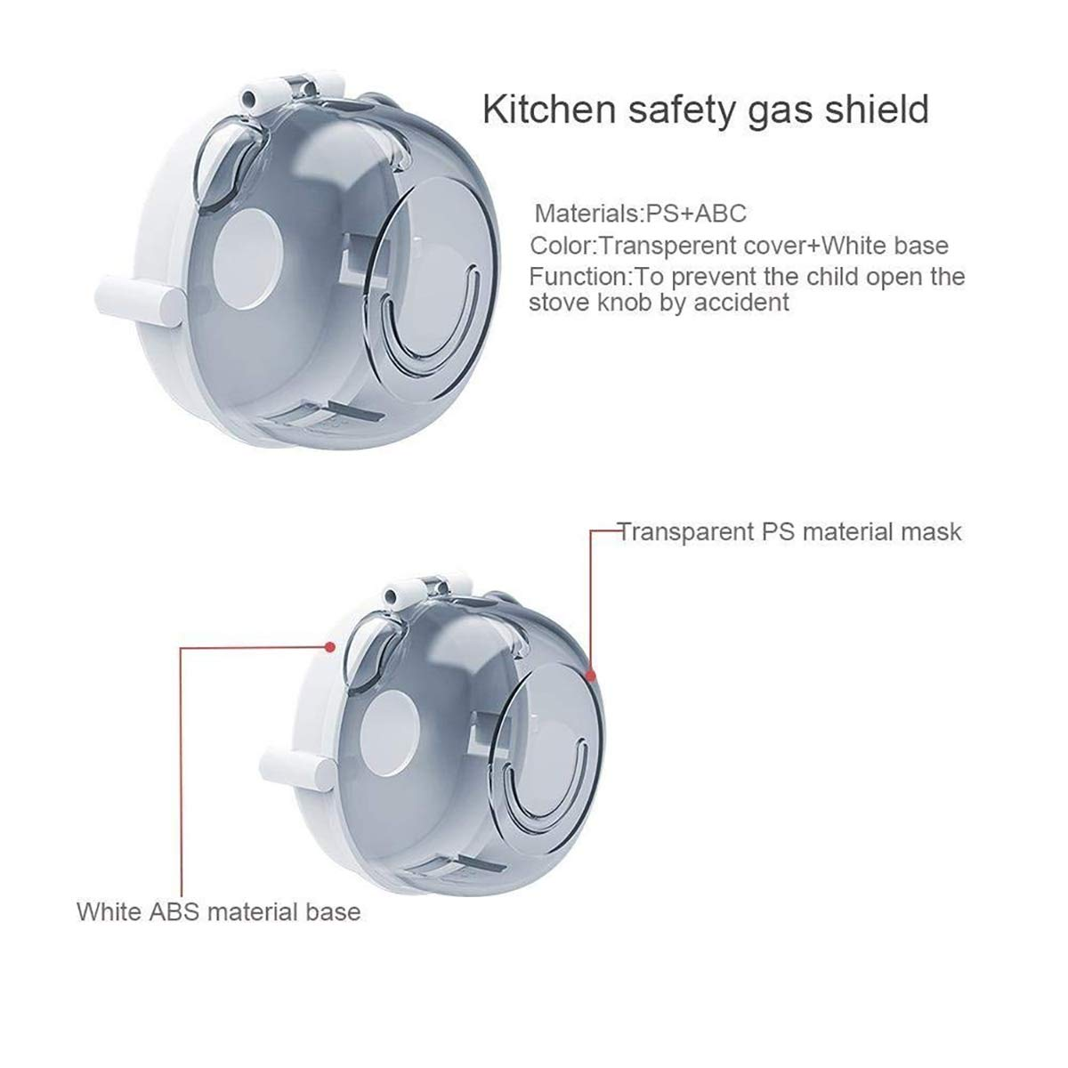 Set of 4 Safety 1st Child Proof Clear View Stove Knob Covers