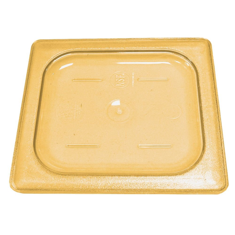 Cambro 20HPC772 Amber 1/2 Size Flat Food Pan Cover w/o Handle