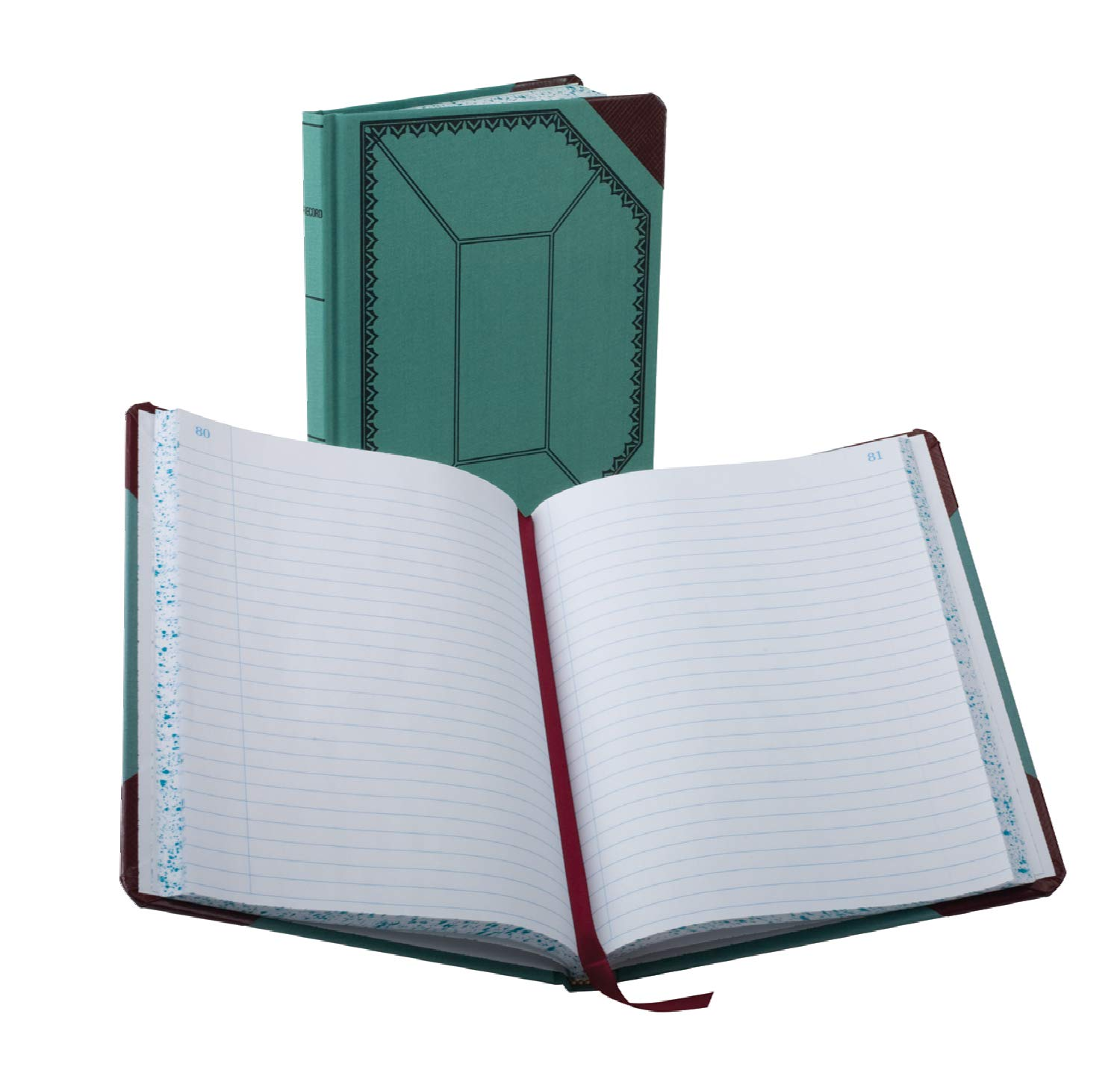 Boorum & Pease 3738150R Record/Account Book, Blue/Red Cover, 150 Pages, 9 5/8 x 7 5/8 by Boorum & Pease